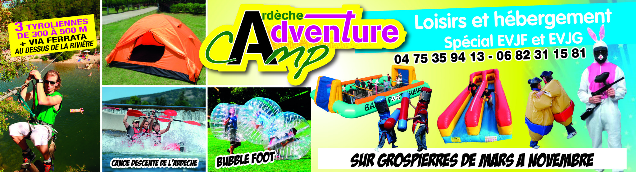 Adventure Camp forfaits evjf/g